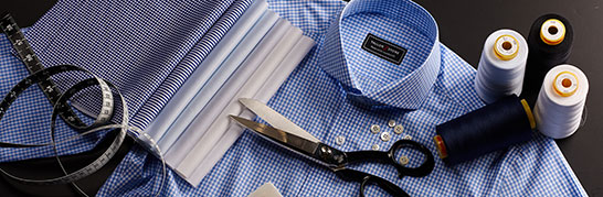 Custom tailored shirts, bespoke and made-to-measure