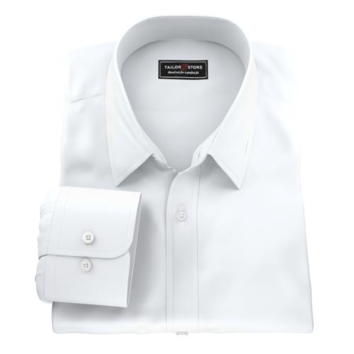 Wrinkle free, easy care men's custom tailored made to measure shirt.