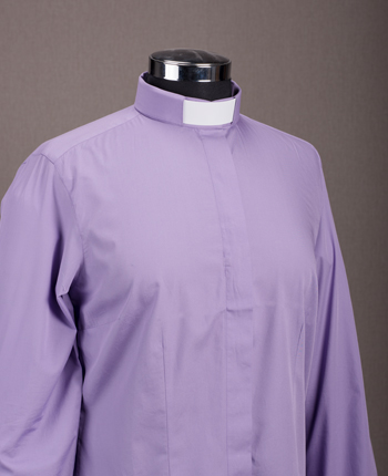 Women's Priest shirt - Basic purple cotton
